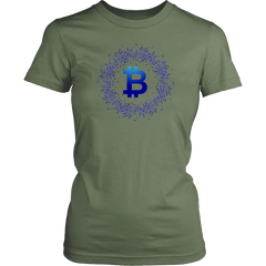 Bitcoin Network Wreath Womens Shirt-Leggy Me