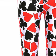 Deck of Cards Printed Leggings-Leggy Me