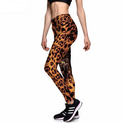 Leopard Skin Athletic Leggings-Leggy Me