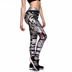 White Tiger Athletic Leggings-Leggy Me