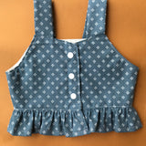 size 2 RTS Button Up Cami in Denim