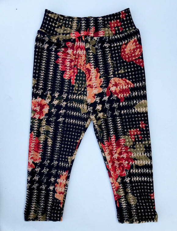 RTS Holiday Floral Cigarette Pants