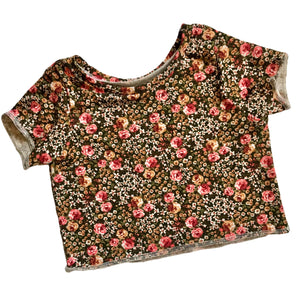 RTS 90s vibes floral crop