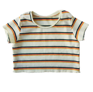 3t Rts Retro Stripe Crop
