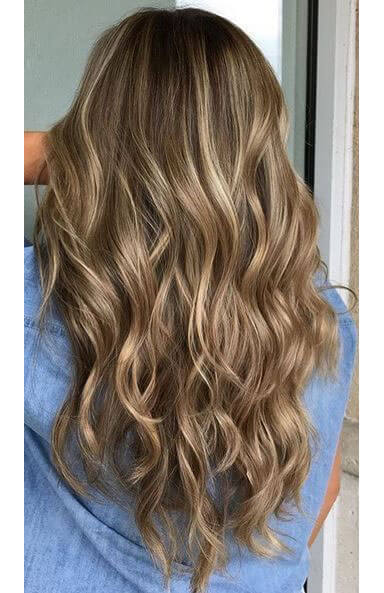 brown-hair-with-golden-blonde-highlights