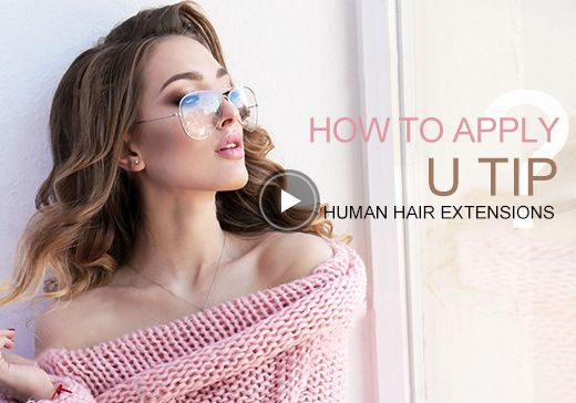 How to apply U tip human hair extensions