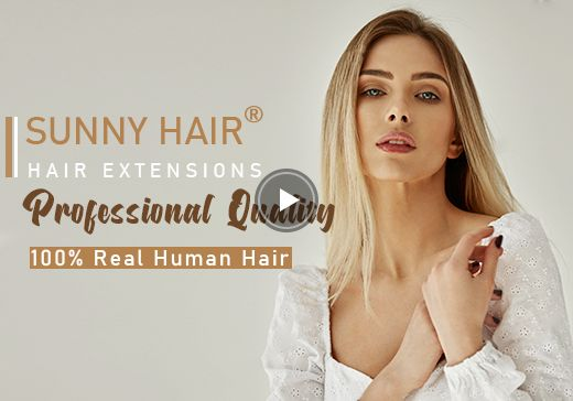 Sunny Hair® Hair Extensions--Professional Quality 100% Real Human Hair