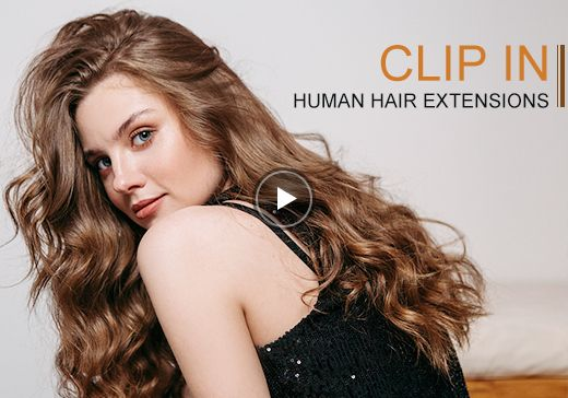 blonde highlighted balayage clip in human hair extensions