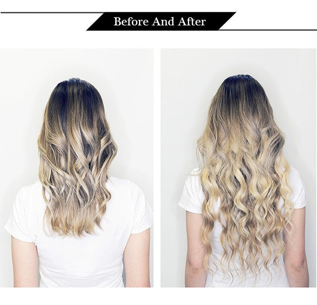 Highlights Halo Hair Extensions  Brown Fading To Blonde Invisible