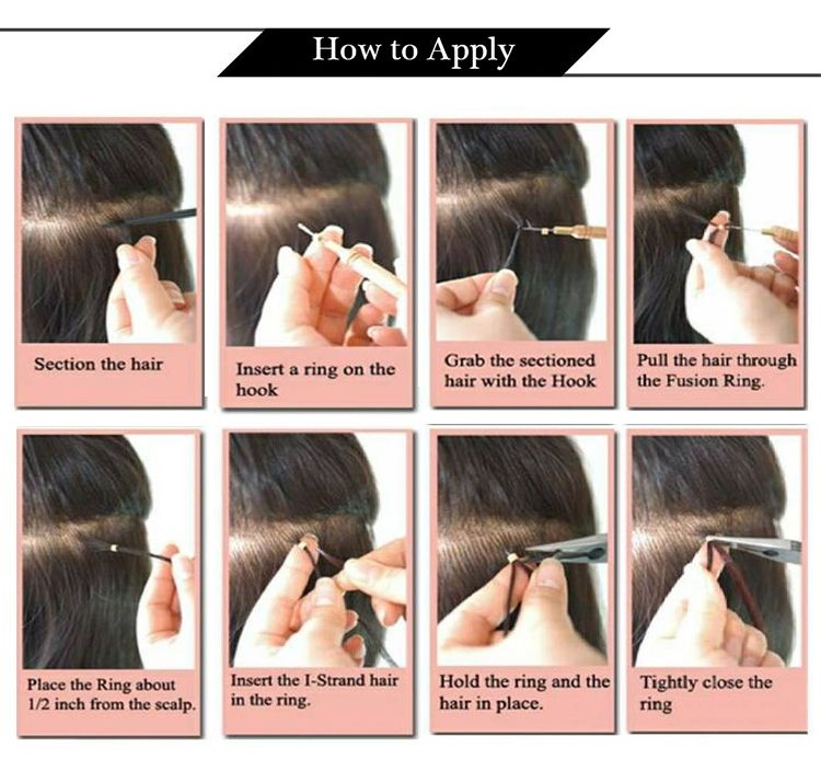 how to apply I tip Keratin human hair