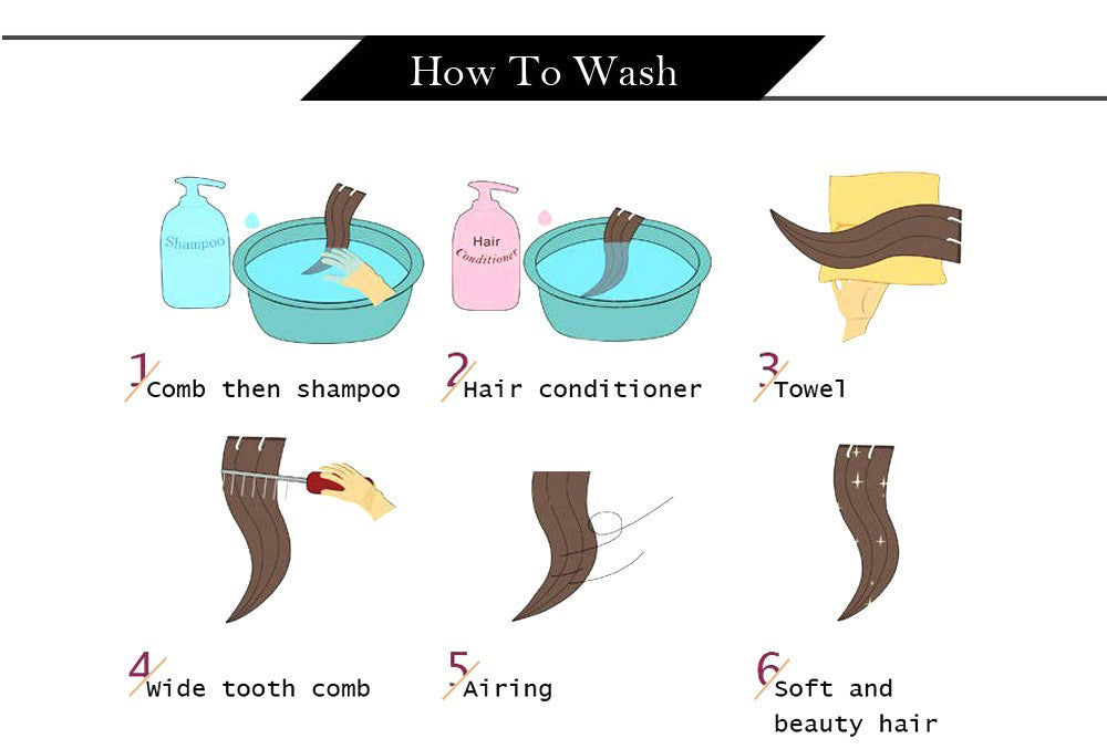 how to wash clip in human hair extensions