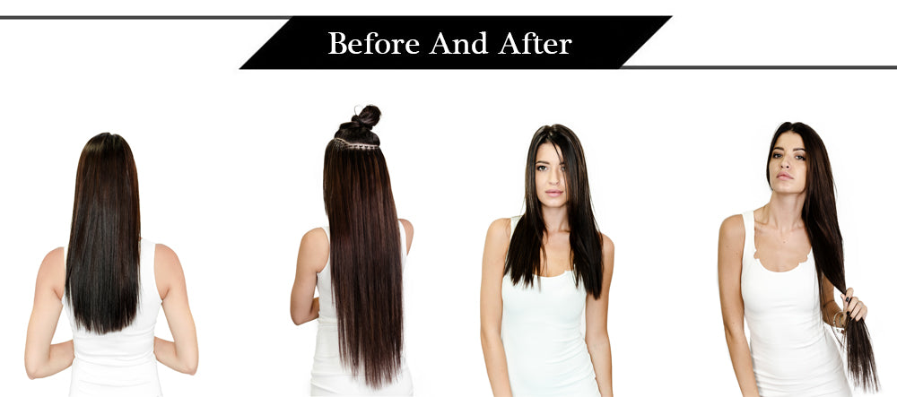 Darkest Brown I tip Keratin virgin human hair extensions