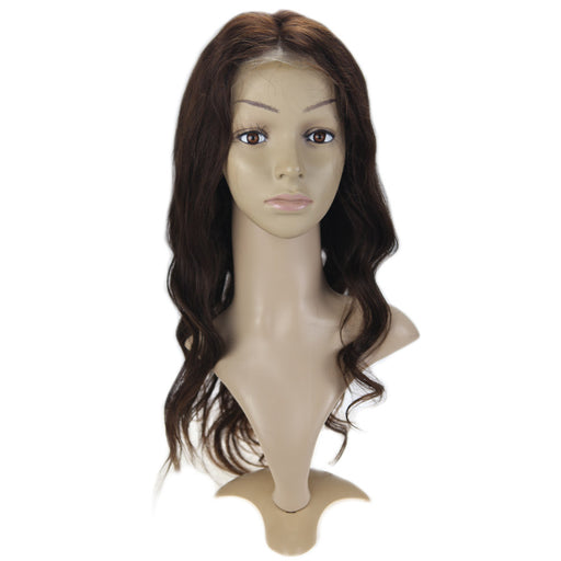 【15% OFF】Dark Brown Lace Front Human Hair Wigs with Baby Hair 130% Density #4