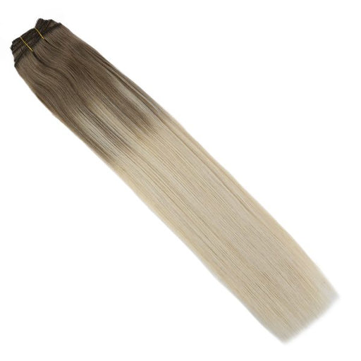Clip in Human Hair Extensions Balayage Ombre Blonde  #14/60