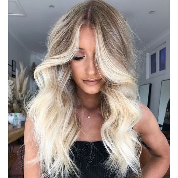 Balayage Blonde Lace Front Human Hair Wigs with Baby Hair
