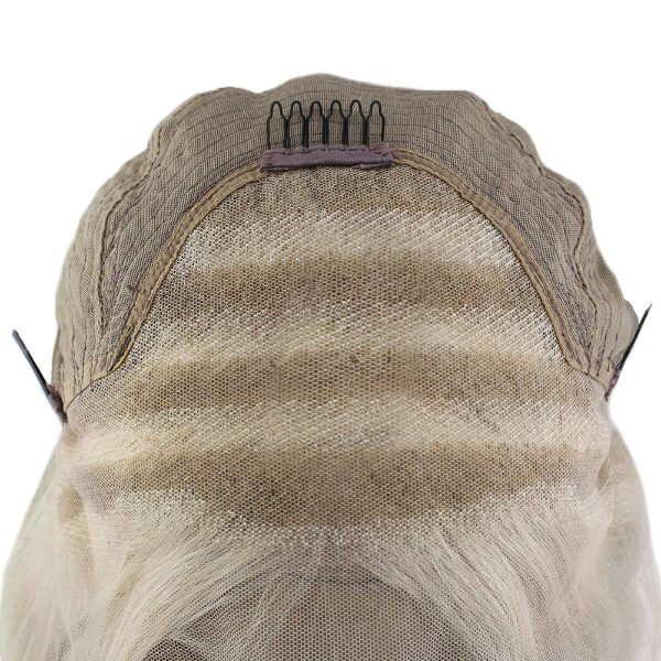Blonde Highlighted Lace Front Human Hair Wigs with Baby Hair #P16/22