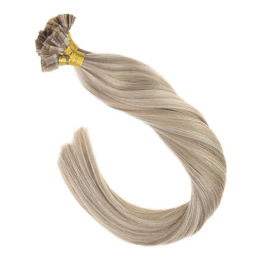 Flat Keratin Tip Blonde Highlights Fusion Hair Extensions #16/22