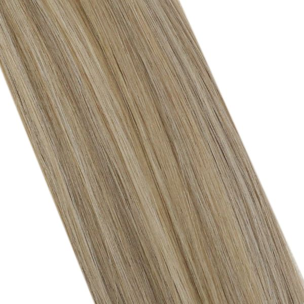 Pre Bonded Nano Ring Human Hair Extensions Blonde Highlights #P16/22