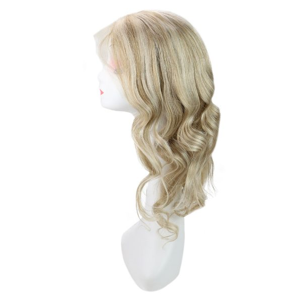 blonde human lace frontal wigs