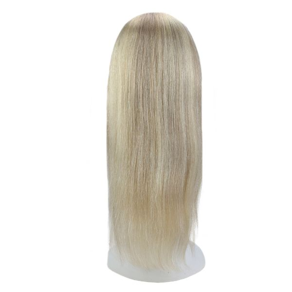 【15% OFF】U Part Human Hair Wigs With Clips Blonde Highlight Clip in Half Lace Wigs #18/613