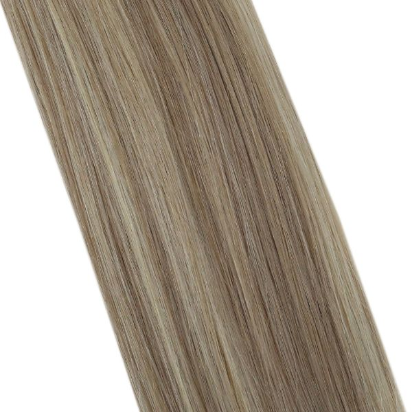 Flat Keratin Tip Blonde Highlights Human Hair Extensions #18/613