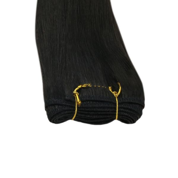 Sew in Weft Remy Human Hair Bundles Natural Black Silky Straight