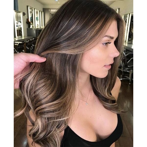 Balayage Brown Highlights Lace Front Human Hair Wigs with Baby Hair #2/2/6
