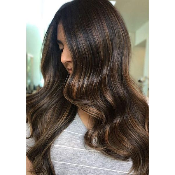 Lace Front Human Hair Wigs Balayage Brown Highlights #2/6/2