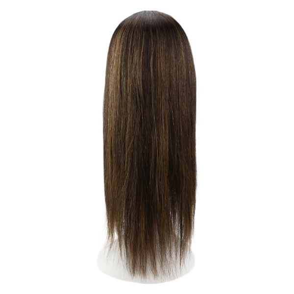【15% OFF】U Part Half Human Wigs With Clips Balayage Brown Highlights #2/6/2
