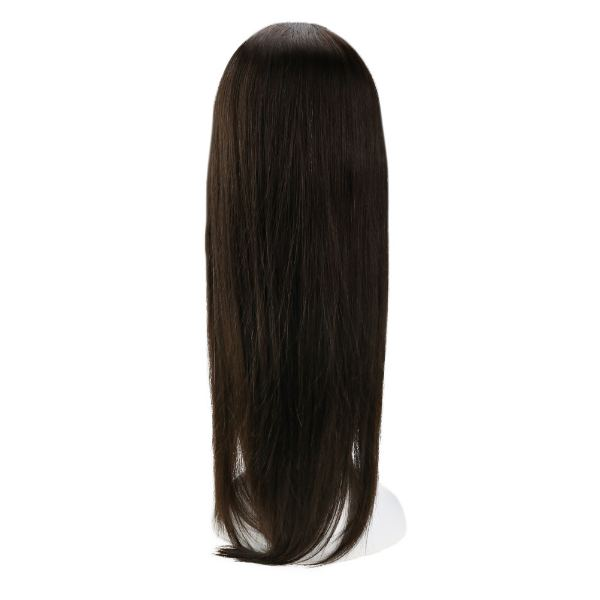 【15% OFF】U Part Human Hair Wigs With Clips Darkest Brown Clip in Half Lace Wigs #2