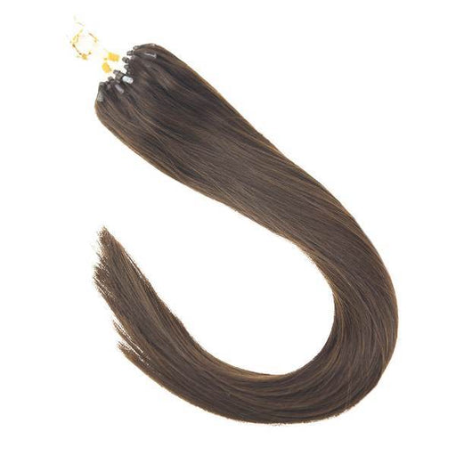 micro ring hair extensions dark brown