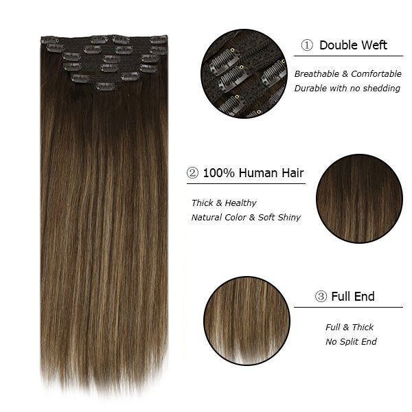 clip in hair extensions thick