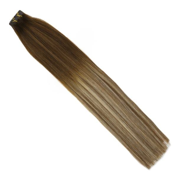 tape in brown human hair