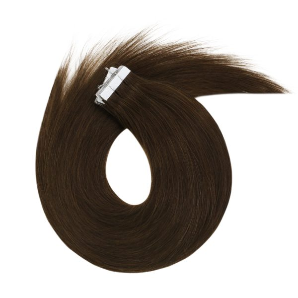 brown virgin tape in human hair