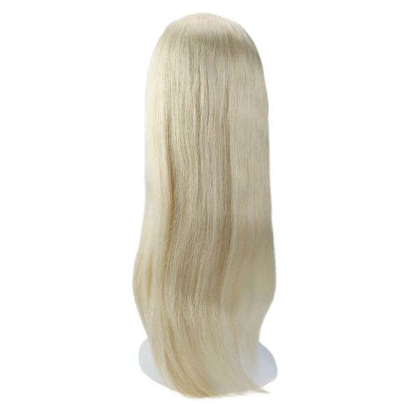 【15% OFF】U Part Human Hair Wigs With Clips Bleach Blonde Clip in Half Lace Wigs #60
