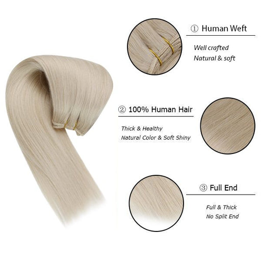 sew in weft human hair extensions