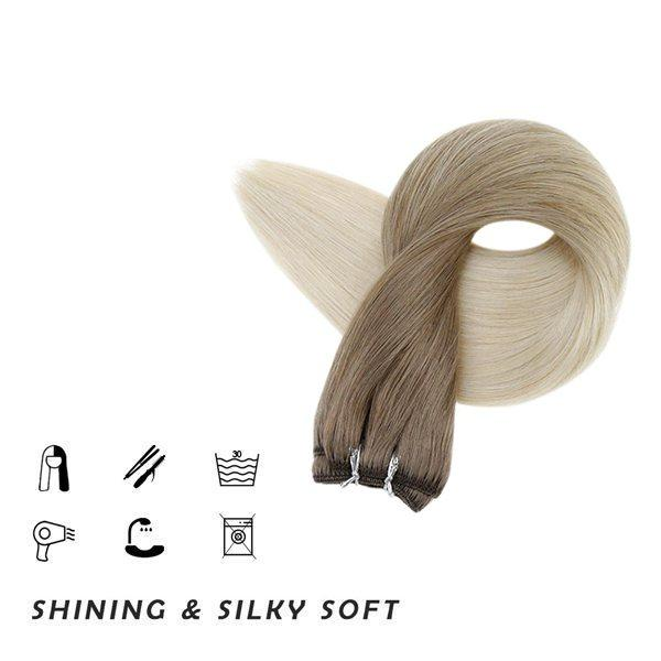 weft hair virgin human hair extensions