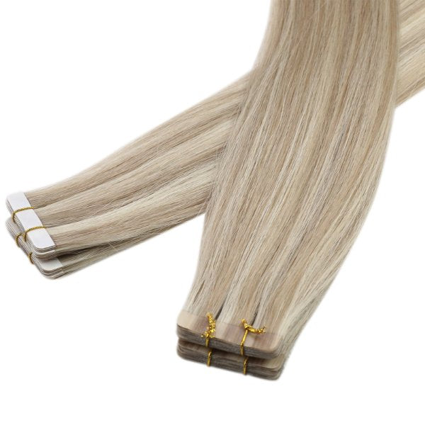 100 human hair tape in extensions