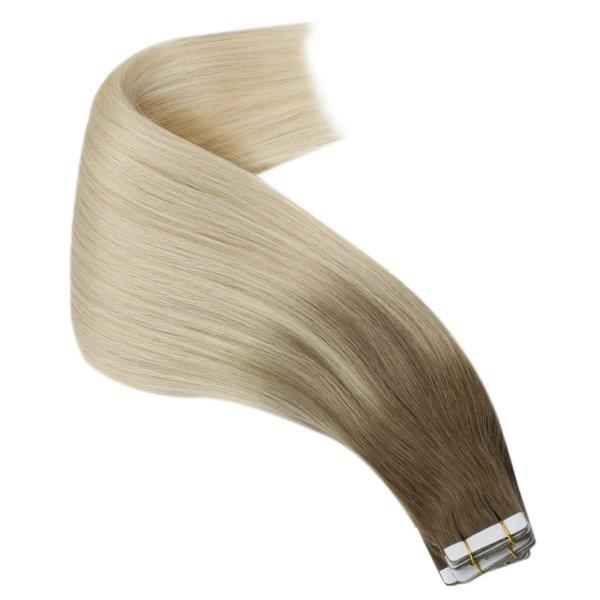 blonde tape in hair extensions