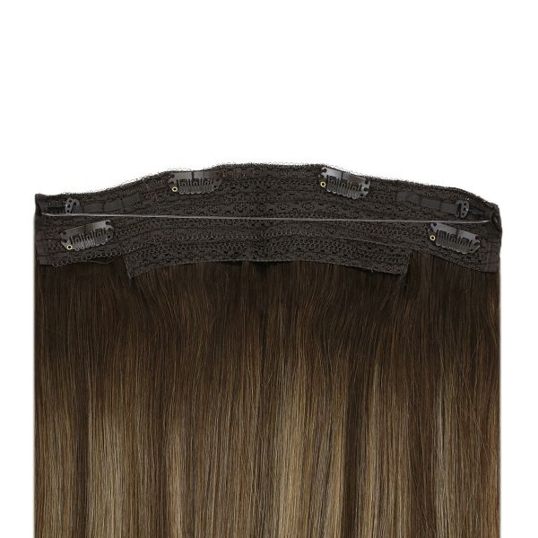 human hair halo extensions