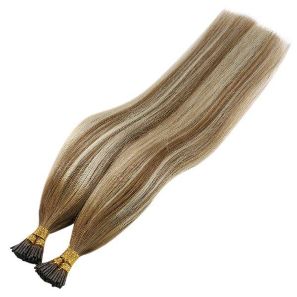 pre bonded i tip human hair extensions