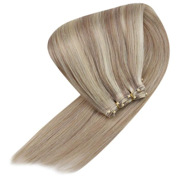 invisible weft human hair extensions