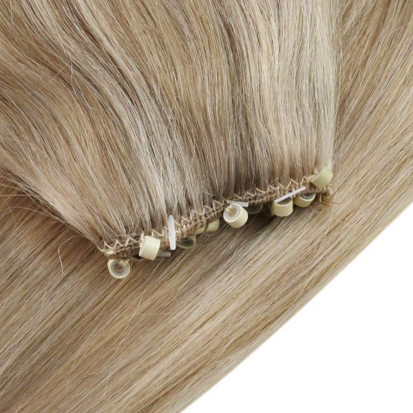 micro beaded weft hair extensions