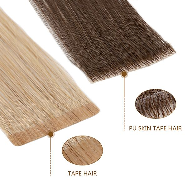 100% human tape in hair extensions
