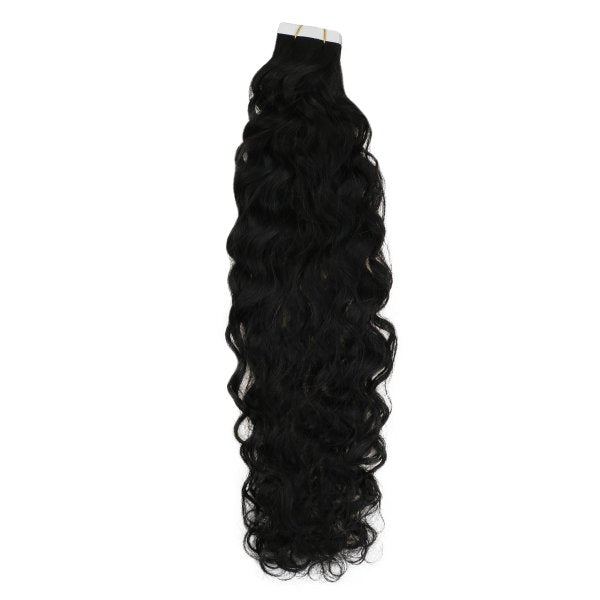 remy tape in hair extensions natural black
