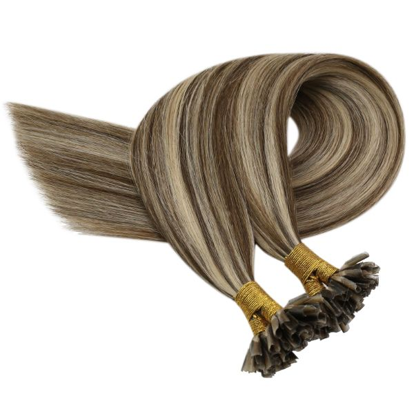 u tip human hair extensions brown