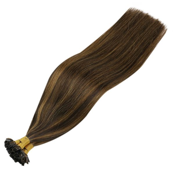 u tip brown human hair extensions