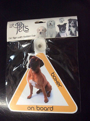 Boxer Car sign with suction cup boxer dog
