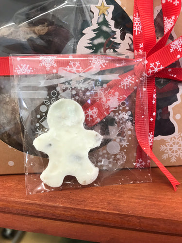 Christmas carob or yoghurt gingerbread shape treat