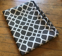 Stuff it cover only, dog bed, tough upholstery fabric, grey Criss cross design